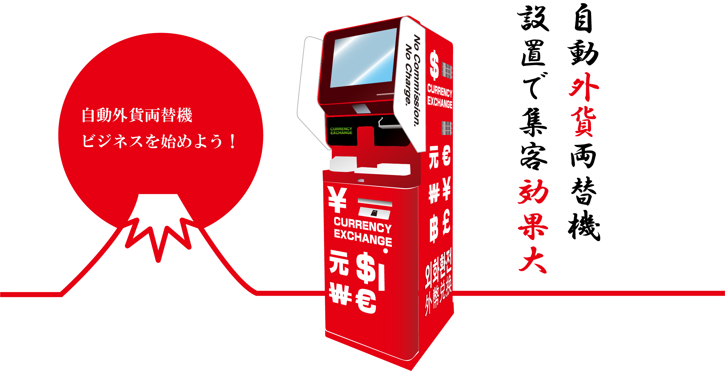 「自動外貨両替機サービス」トップイメージ